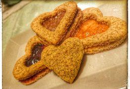 Cuori variegati, i biscotti di San Valentino