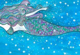 Marilena la Sirena che combatte l'inquinamento marino