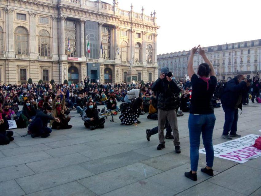 manifestazione Torino 31 10 2020